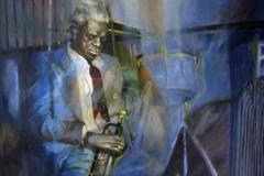 jazztrompeter 120x100 öl