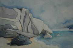 felsen, 29.7x21 aquarell