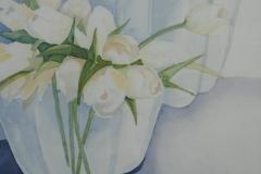 weiße tulpen, 23x23 aquarell auf aquarellpapier